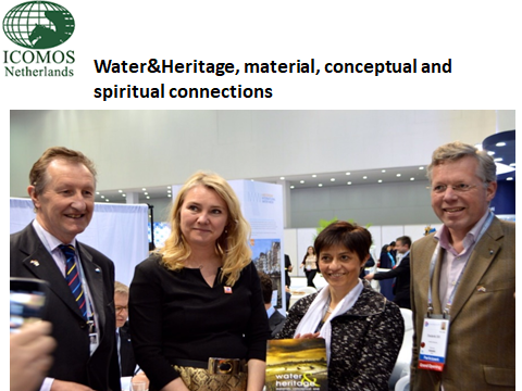 Minister receives a copy of the book Water & Heritage