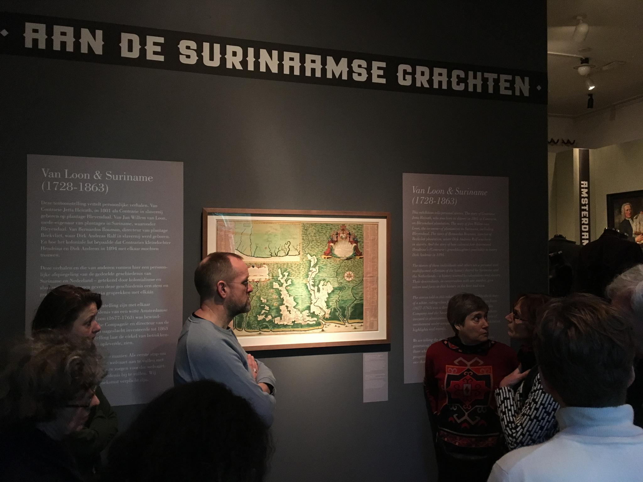 Map showing Surinamese plantations and ICOMOS members. Photograph by Yvonne Nijenhuis.