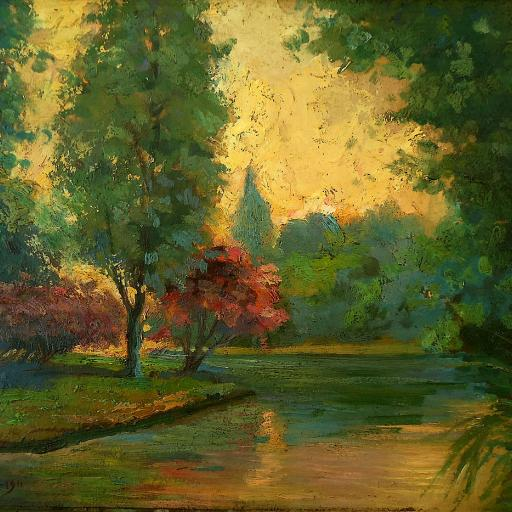 Painting of European Landscape Arthur Timotheo da Costa