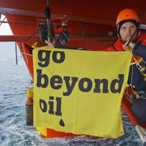 Go beyond oil cry Greenpeace